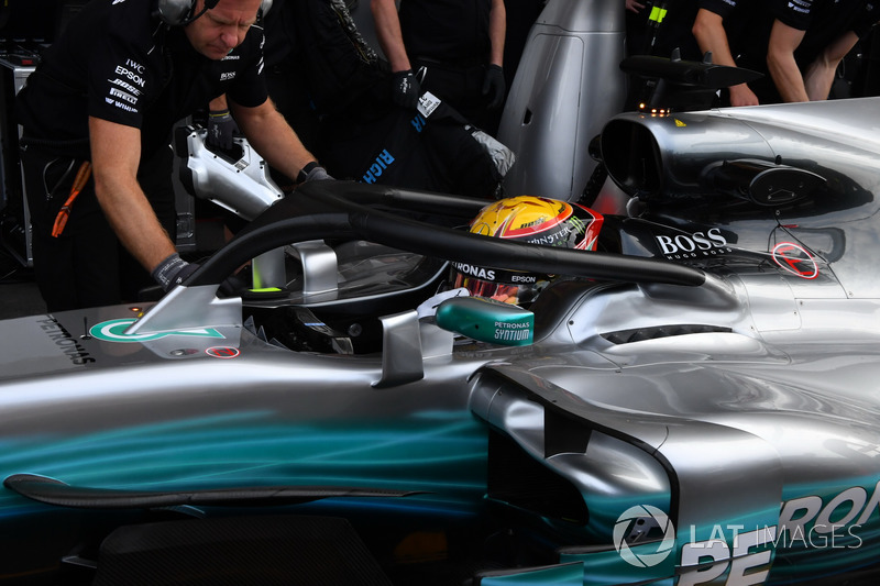 Льюіс Хемілтон, Mercedes-Benz F1 W08 з Halo