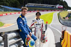 Oliver Rowland, DAMS y Nobuharu Matsushita, ART Grand Prix