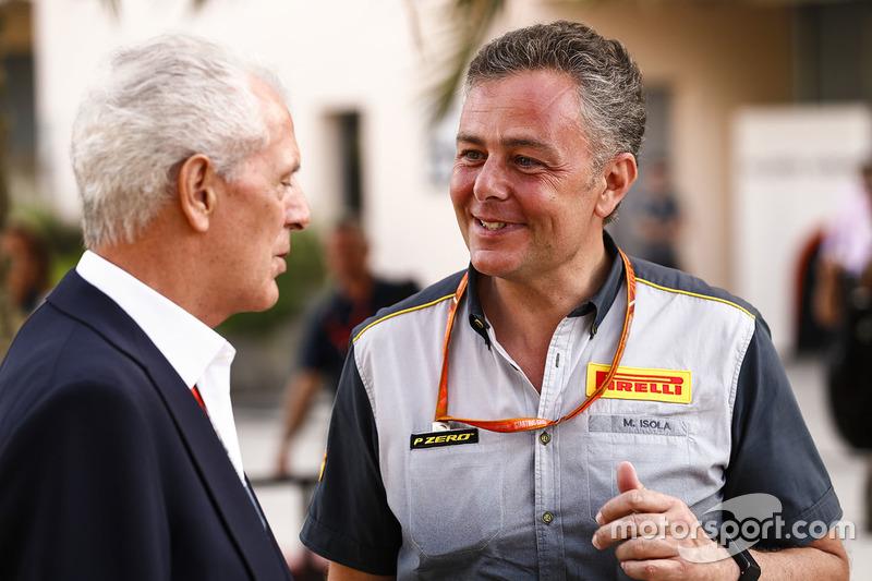 Marco Tronchetti Provera, Chief Executive Officer, Pirelli, Mario Isola, Racing Manager, Pirelli Motorsport