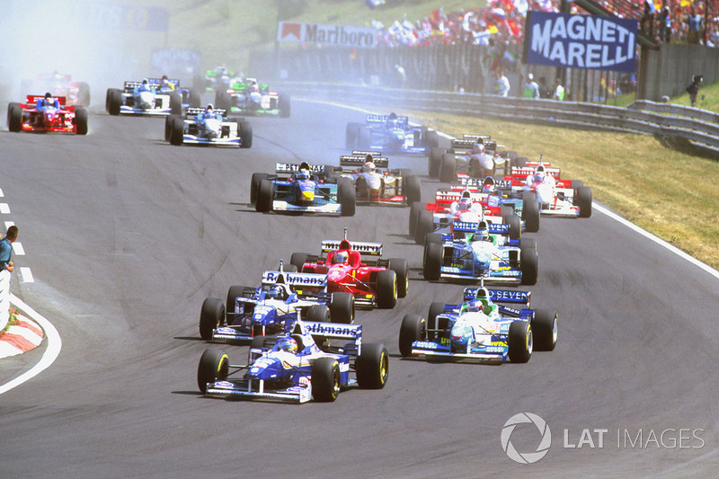 Jacques Villeneuve, Williams FW18 Renault, Damon Hill, Williams FW18 Renault ve Jean Alesi, Benetton
