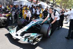 The car of Lewis Hamilton, Mercedes-Benz F1 W08 Hybrid