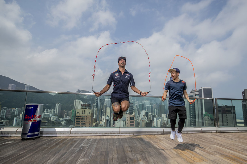 Rope skipping world champion Timothy Ho Chu-ting, Daniel Ricciardo, Red Bull Racing