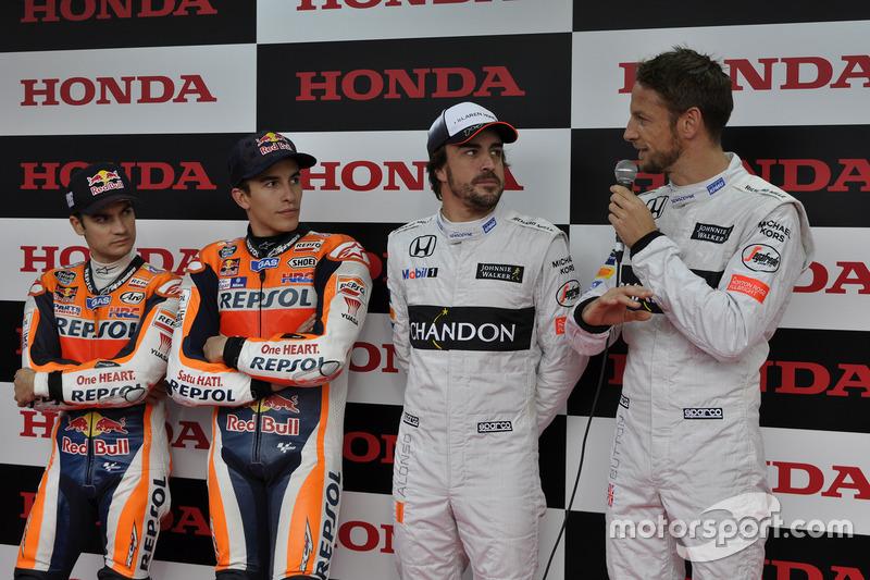 Jenson Button, Fernando Alonso, Marc Márquez, Dani Pedrosa