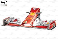 Ferrari F14 T new front wing