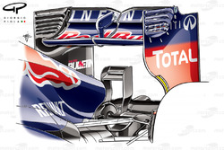 Red Bull RB9 rear wing and monkey seat