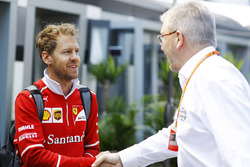Sebastian Vettel, Ferrari, Ross Brawn, Managing Director of Motorsports, FOM
