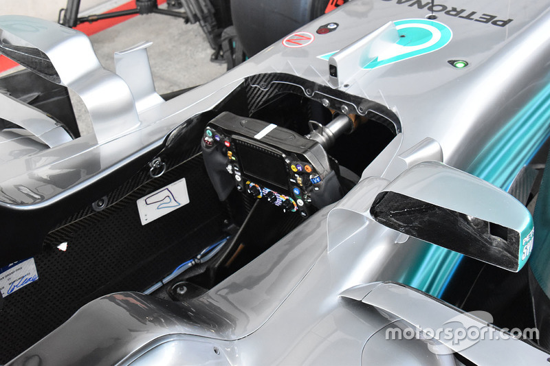 Mercedes AMG F1 W08 cockpit detail