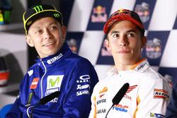 Валентино Росси, Yamaha Factory Racing, и Марк Маркес, Repsol Honda Team