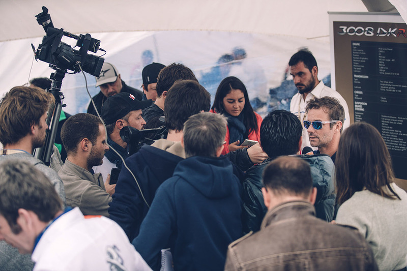 Sebastien Loeb, Peugeot Sport with the media