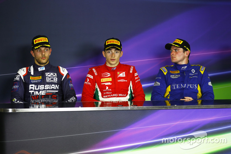 Charles Leclerc, PREMA Powerteam Luca Ghiotto, RUSSIAN TIME and Oliver Rowland, DAMS