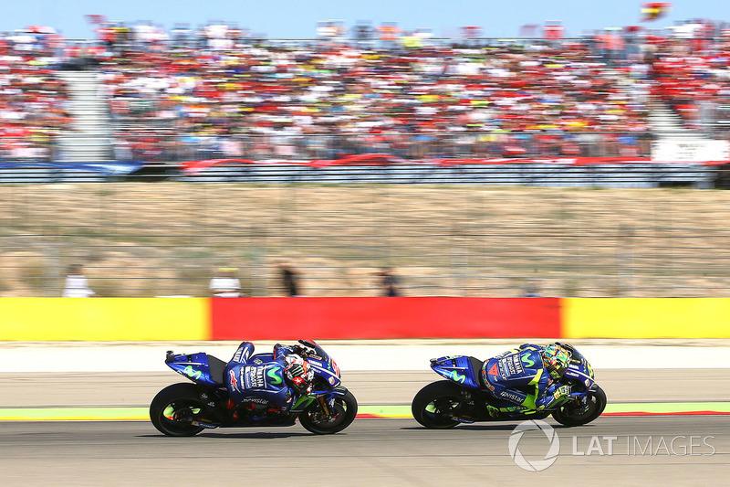 Valentino Rossi et Maverick Viñales