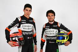 Esteban Ocon, Sahara Force India F1 Team; Sergio Perez, Sahara Force India F1