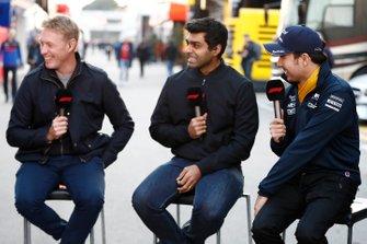 Simon Lazenby, Sky TV, Karun Chandhok, Sky TV et Sergio Perez, SportPesa Racing Point F1 Team