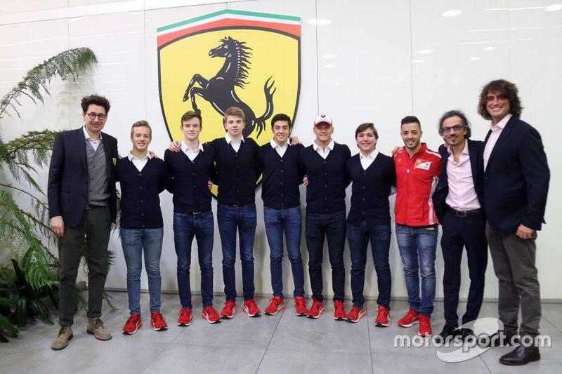 Annuncio giovani piloti Ferrari