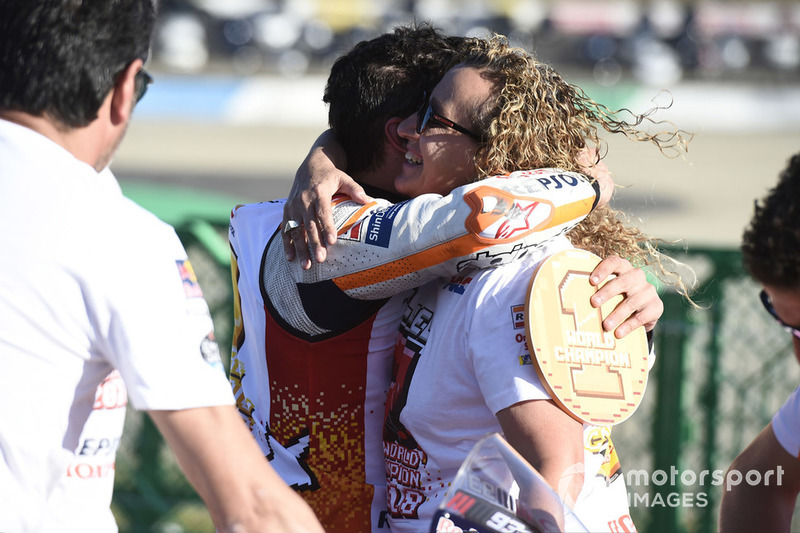 Marc Marquez, Repsol Honda Team, con la madre