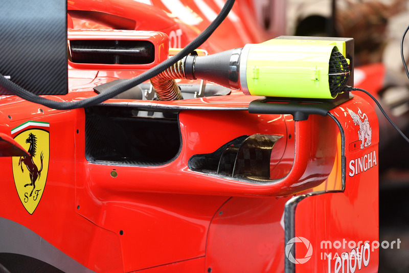 Ferrari SF-71H sidepod detail