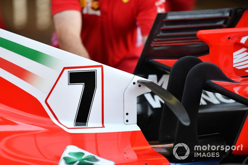 Capot moteur de la Ferrari SF71H