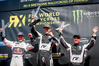 Подиум: победитель Йохан Кристофферссон, PSRX Volkswagen Sweden, второе место – Андреас Баккеруд, EKS Audi Sport, третье место – Петтер Сольберг, PSRX Volkswagen Sweden