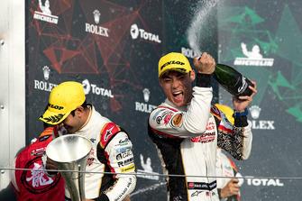 Podium LMP2: second place #37 Jackie Chan DC Racing Oreca 07 Gibson: Weiron Tan
