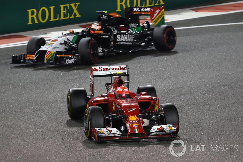 Кімі Райкконен, Ferrari F14 T, Ніко Хюлькенберг, Force India VJM07