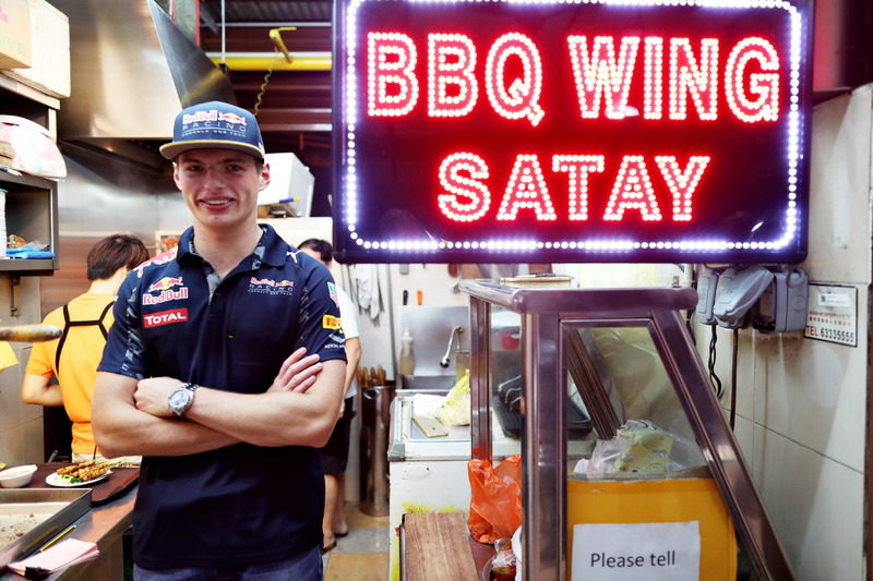 Max Verstappen, Red Bull Racing at Newton Food Centre