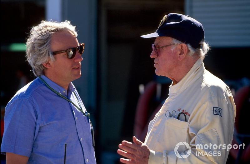 Charlie Whiting, FIA Race Director talks to Professor Sid Watkins, FIA Safety Delegate