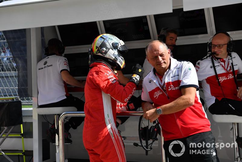 Себастьян Феттель, Ferrari, керівник Sauber Фердерік Вассьор
