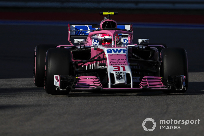 Esteban Ocon: Racing Point Force India - 8 puan