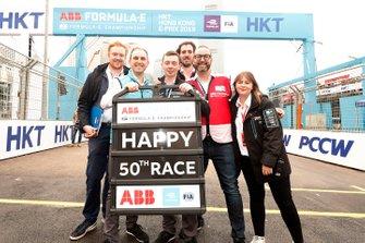 FIA Formula E staff celebrate 50 races of the the championship