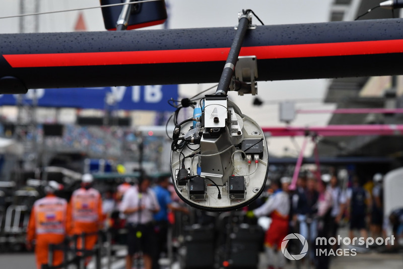 Lampu pit stop Red Bull Racing