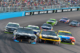#1: Jamie McMurray, Chip Ganassi Racing, Chevrolet Camaro Cessna and Ryan Newman, Richard Childress Racing, Chevrolet Camaro Cat Global Mining