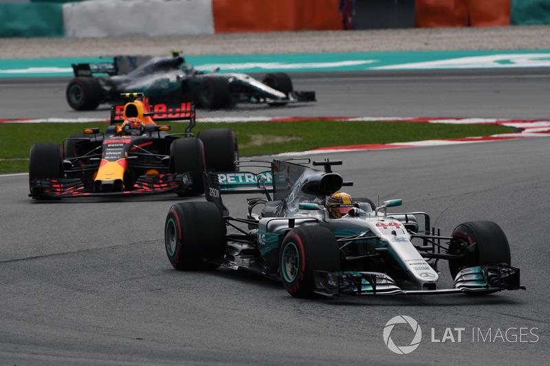 Льюіс Хемілтон, Mercedes-Benz F1 W08, Макс Ферстаппен, Red Bull Racing RB13
