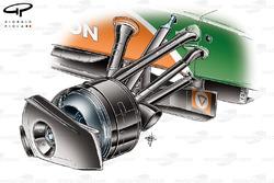 Force India VJM02 front rim cover