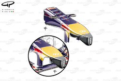 Red Bull RB10 nosecone, small 'pelican' underbelly added (inset for comparison)