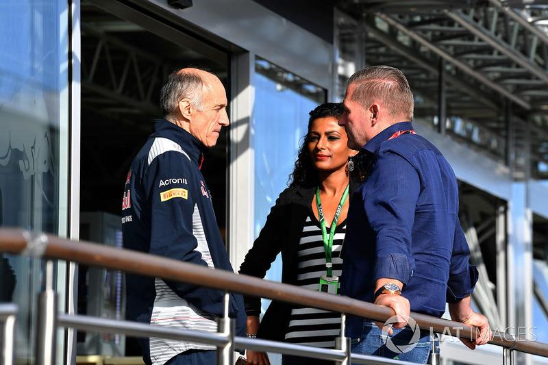 Franz Tost, director de Scuderia Toro Rosso y Jos Verstappen