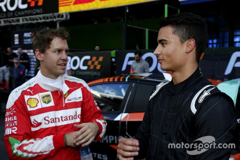 Sebastian Vettel y Pascal Wehrlein
