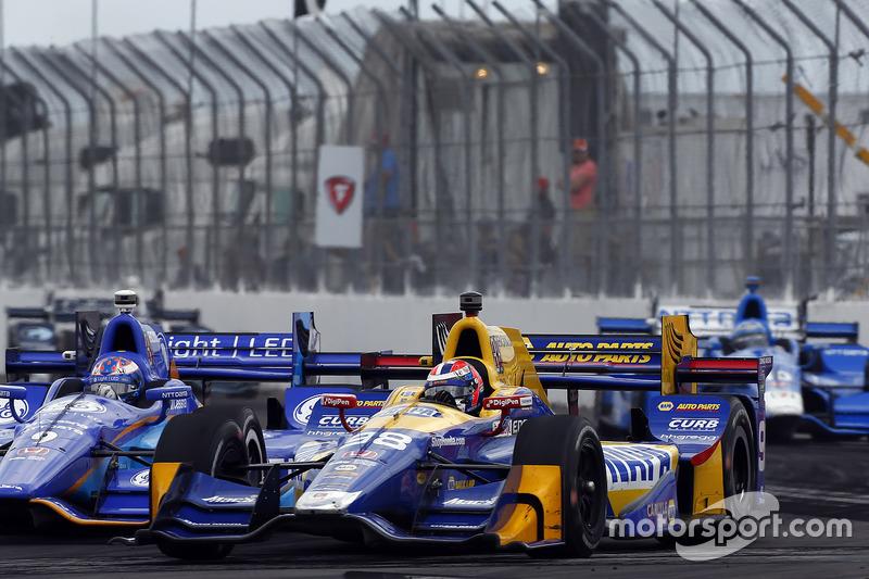 Alexander Rossi, Herta - Andretti Autosport Honda, Scott Dixon, Chip Ganassi Racing Honda