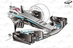 Mercedes F1 W08 front wing old version