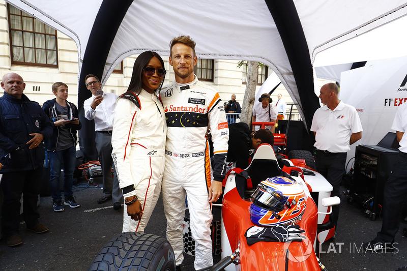 Jenson Button, McLaren, Naomi Campbell