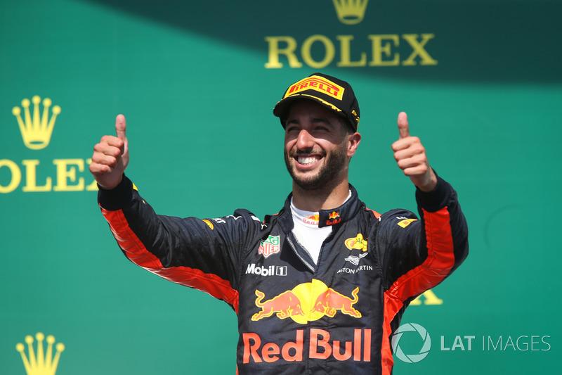 Podium: tercero, Daniel Ricciardo, Red Bull Racing