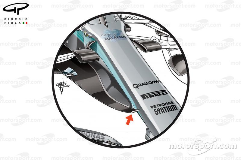 Mercedes W08 nieuwe neus, GP van Maleisië