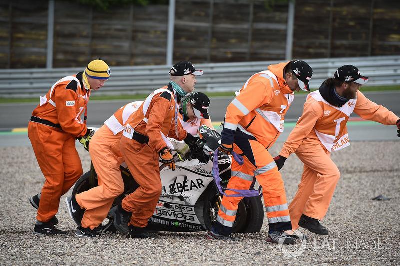 После аварии: Альваро Баутиста, Aspar MotoGP Team