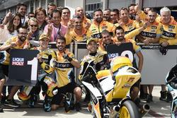 Ganador de la pole place Gabriel Rodrigo, RBA Racing Team, segundo Juan Francisco Guevara, RBA Racing Team