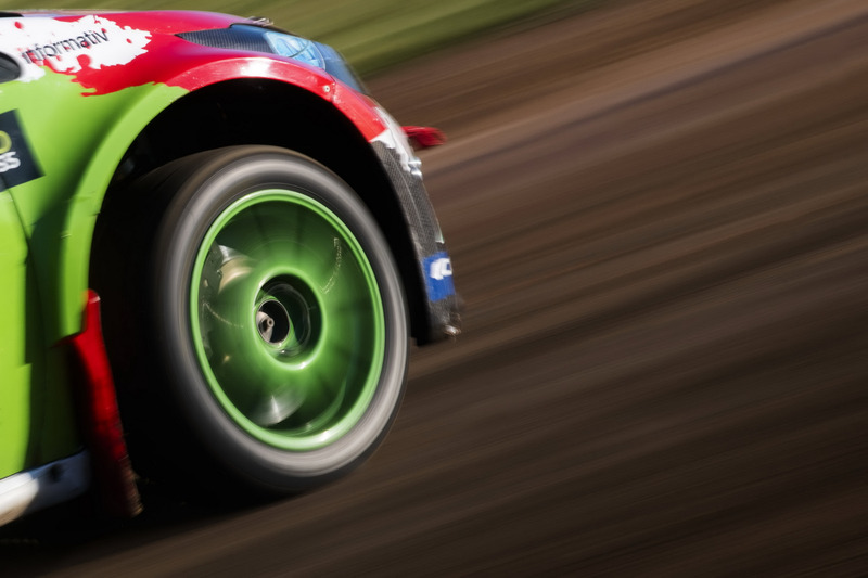 Detail during the FIA World Rallycross Championship in Barcelona