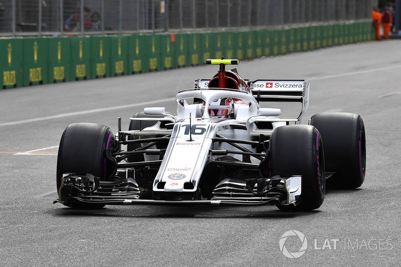 Charles Leclerc, Sauber C37 on the grid