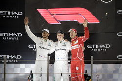 Podium: Ganador, Valtteri Bottas, Mercedes AMG F1, segundo, Lewis Hamilton, Mercedes AMG F1, tercero