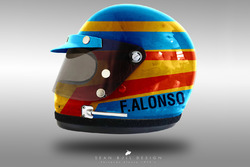 Fernando Alonso 1970's helmet concept