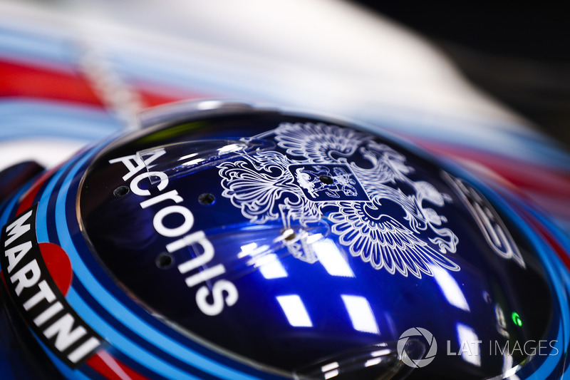 Casco de Sergey Sirotkin, Williams Racing