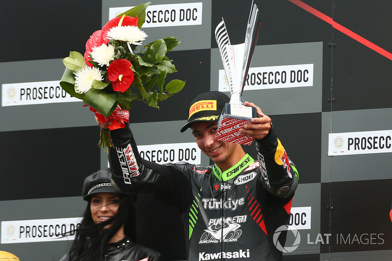 Podium: second place Toprak Razgatlioglu, Kawasaki Puccetti Racing