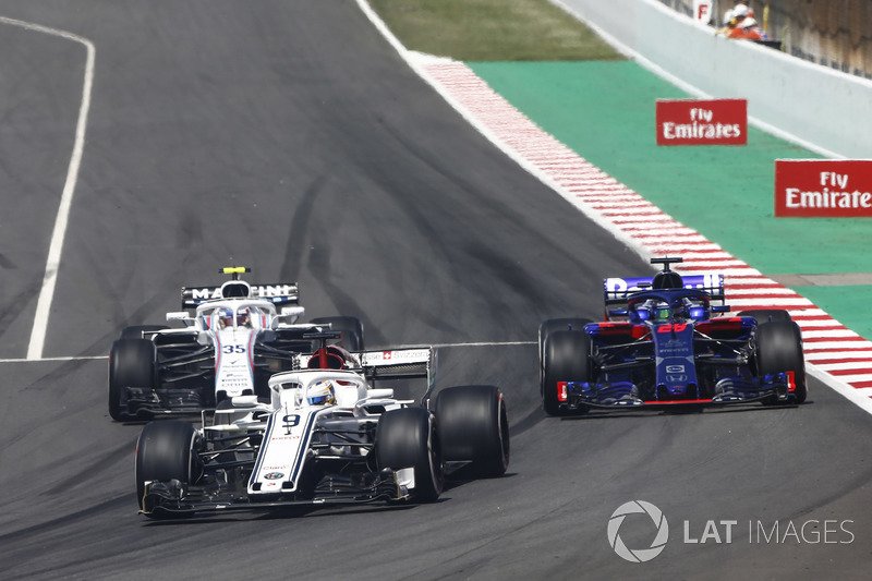 Marcus Ericsson, Sauber C37, Brendon Hartley, Toro Rosso STR13, Sergey Sirotkin, Williams FW41